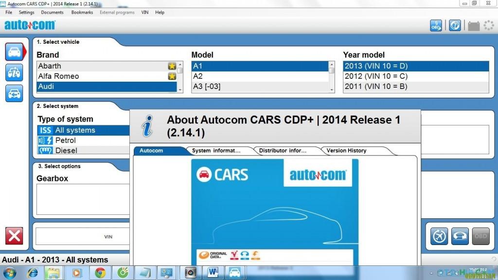 Autocom CDP+ Pro Phiên bản 2015 là một công cụ chẩn đoán nhanh chóng và đáng tin cậy kết nối xe với máy tính thông qua giao thức OBD II và cáp nối USB. Hỗ trợ hơn 60 dòng xe cả châu Âu , châu Á , Mỹ . Với phiên bản cập nhật được OBD Việt Nam mua bản quyền và cập nhật miễn phí trọn đời cho Khách hàng sử dụng sản phẩm . Điểm mạnh nhất của Autocom CDP+ là vào khá sâu các dòng xe châu Âu và một số dòng xe tải .